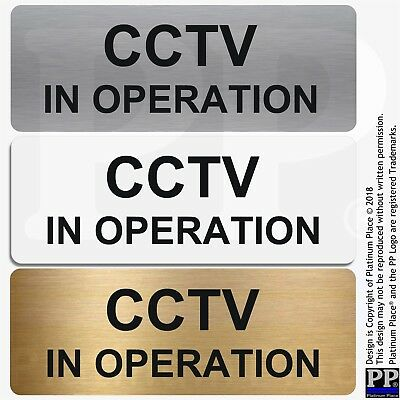 Aluminium Sign-CCTV In Operation-Metal-Warning Security Door Notice Office Shop