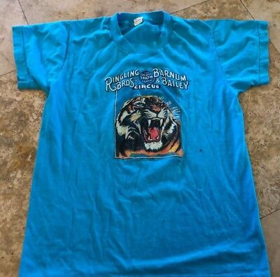 Vitg 80s Ringling Brothers T-Shirt Barnum and Bailey Screen Stars kids