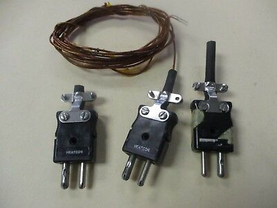 Heatcon HCS2010 Used J-Thermocouple Plug Assembly (QTY 3)