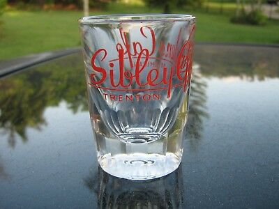 """Sibley Gardens Cafe Logo  3 """" Red Logo Shot Glass Nice Replacement"""