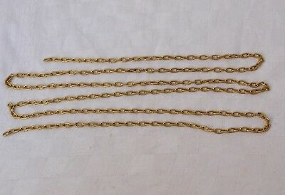 BRASS LINK CHAIN FOR CLOCK PULLEYS 1of2