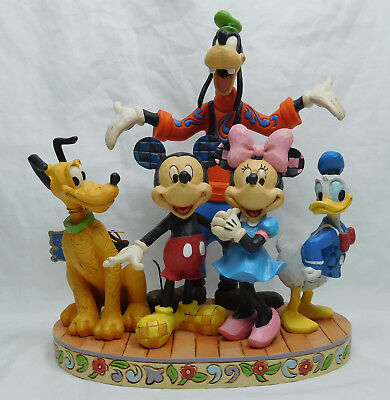 Disney Enesco Jim Shore Figur 4056752 Fab 5 Mickey, Minnie, Donald, Goofy Pluto