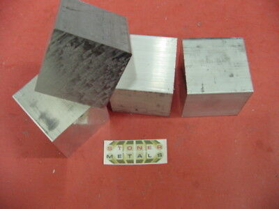 "4 Pieces 2-1/4"" X 2-1/4"" ALUMINUM SQUARE 6061 SOLID BAR 2.25"" long T6 Mill Stock"