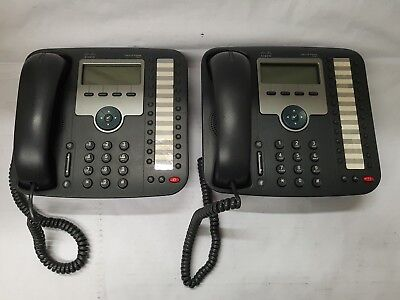 LOT OF 10 Cisco CP-7941G 2 Button SCCP VoIP PoE Phone