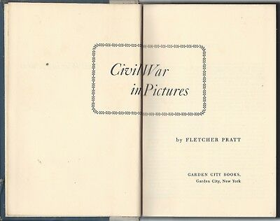 CIVIL WAR IN PICTURES--Fletcher Pratt (1955, Illustrated, Hardback)