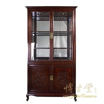 Chinese Antique Carved Rosewood Display/Curio Cabinet 18LP41