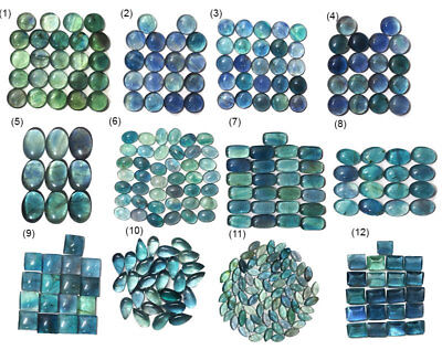 100% Natural Bi Color Fluorite Cabochon Lot - Buy all or select your lot -