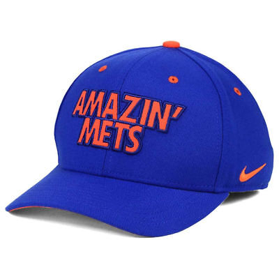 info for 3a772 52576 New York Mets Nike MLB Local Swooshflex Cap Hat Amazin Unisex Baseball  Fitted NY