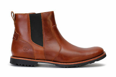 TIMBERLAND MEN'S CHELSEA Boots Kendrick Tan Harness leather A1N1K