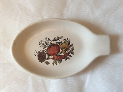 Vtg Mccoy Spoon Rest Pottery #232 Spice Of Life Vegetables Usa-Made