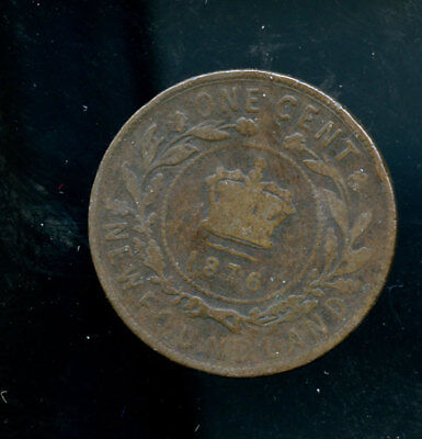 1876 Newfoundland Large Cent E195