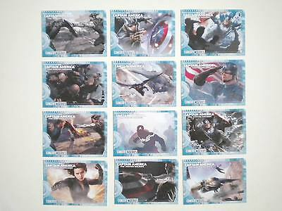 2014 Upper Deck Captain America The Winter Soldier Concept Series 27 Cards Set