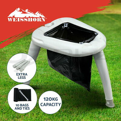 WEISSHORN Portable Folding Toilet Camping Potty Caravan Travel Camp Boating