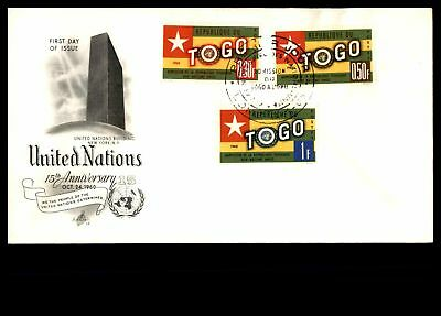 1960 United Nations Combination Artcraft Cachet On Unsealed Fdc