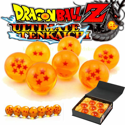 New 7 pcs JP Anime Dragon Ball Z Stars Crystal Ball Cosplay Set In Box 35mm