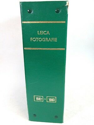 LEICA FOTOGRAFIE Magazines in Binder All 1982 + 1983 16 issues Photography Leitz