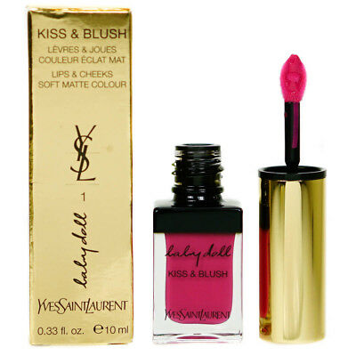 YSL Yves Saint Laurent Babydoll Kiss & Blush Pink Lipgloss Blusher (Damaged Box)