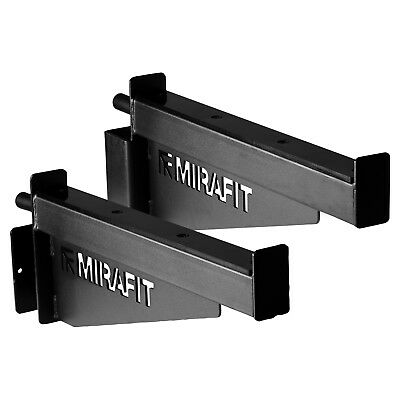 Mirafit M2 Barbell Spotter Arms 60mm Gym Power Cage/Squat Rack Spotters/Catchers