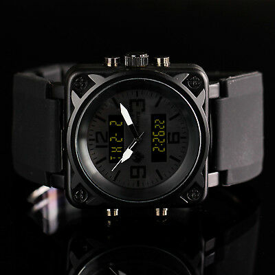 INFANTRY Mens Digital Analog Wrist Watch Dual Time Sport Military Army Rubber