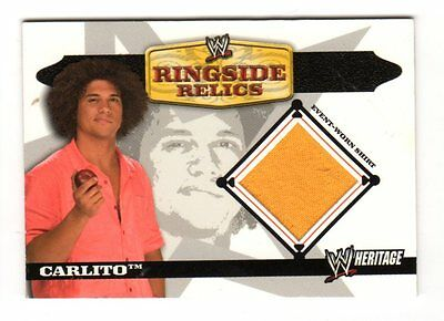 Carlito 2006 Topps Heritage Ii Wwe Ringside Relics (Event Worn Shirt)