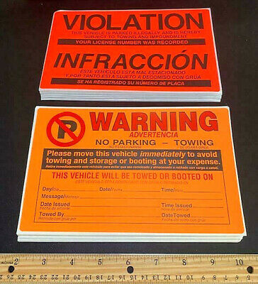 25pk VALUE PACK ⭐(BEST PRICE!)⭐ NO ILLEGAL PARKING VIOLATION WINDOW SIGN STICKER