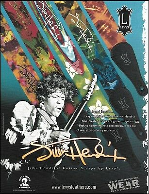 The Jimi Hendrix Signature Series Levy's Guitar Straps ad 8 x 11 advertisement