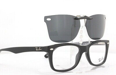Custom Fit Polarized CLIP-ON Sunglasses For RAY-BAN RB5228 50x17 Rayban 5228