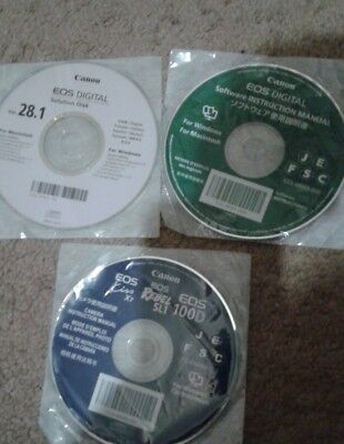 Canon EOS Digital Solution Disk 28.1 & EOS Digital Software Instruction Manual