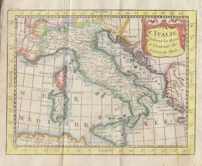 1774 Attractive Buffier Map of Italy