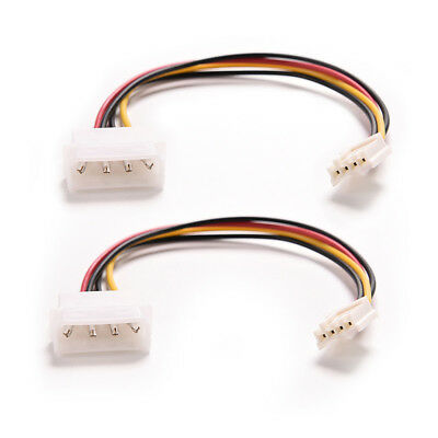 2Pcs 4 Pin Molex Male to 4Pin Molex Female Power Supply Extension Cable New