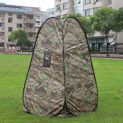 Portable Privacy Shower Toilet Camping Pop Up Tent Camouflage Changing Tent U0C5