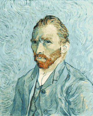 Van Gogh Portrait DIY Paint By Number Kit Canvas Oil Painting Home Wall Decor