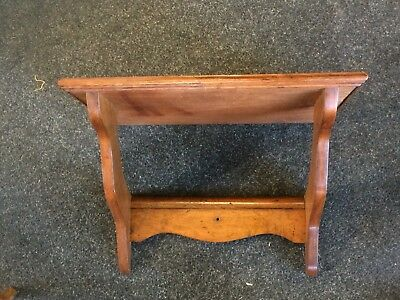 Antique 19th Century Wooden Pollard Oak Victorian Clock Shelf Bracket