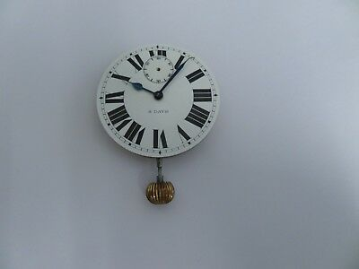 Antique 8 Day Travel Clock  For Repair / Spares .winding Fault.