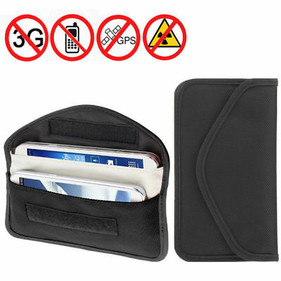 "7.5"" RFID Phone Signal Blocker Car Key Faraday Bag Keyless Entry Fob Large Pouch"