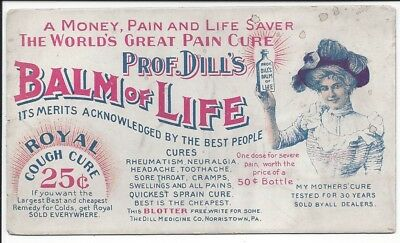 Illustrated Advertising Blotter, Prof. Dill's Balm of Life, c1900