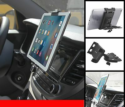 Universal Car Dash Cd Player Mount Dual Cell Phone Tablet Holder