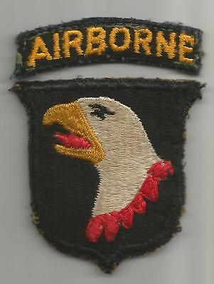Vet Altered Bloody Type 6 US Army 101st Airborne Patch Greenback & Tab Inv# G383