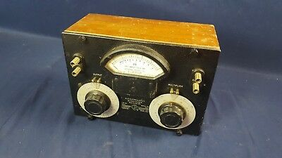 Vintage General Radio Model 892 Type 546-C Microvolter Wood Case