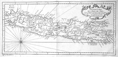 1750 Java Indonesia Indonesien Karte map plan Kupferstich antique print B 155781