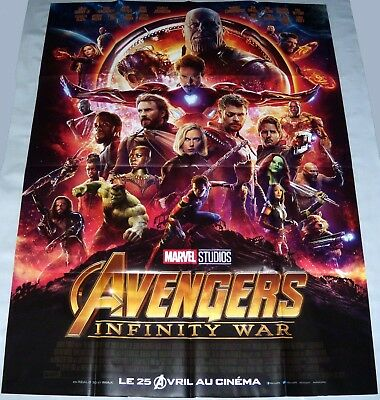 AVENGERS iNFiNiTY WAR Marvel Comics iron-man  Black panther LARGE French POSTER