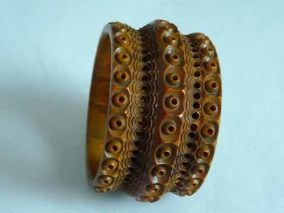 RARE 19th Century Carved Vegetable Ivory Napkin Ring