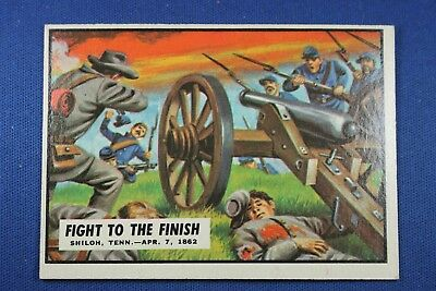 1962 Topps Civil War News - #14 Fight To The Finish - Ex+++ Condition