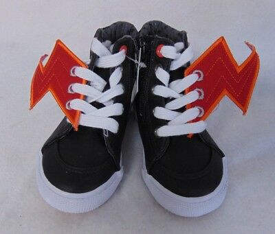 cfc639bc0e Cat & Jack Toddler Boys Sneakers Size 6 Odis Winged High Top Black Shoes