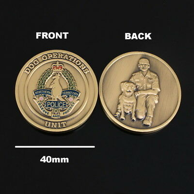 Northern Territory Police Dog Operations Unit Challenge Coin (social)