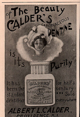 Ad Lot Of 8 Early Calders Dentine Gum Saponaceaous Toothpaste