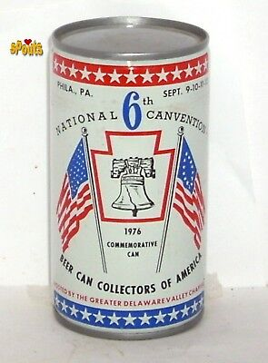 1976 Philadelphia Beer Can Collector America Bcca Convention 6 Usa Bicentennial