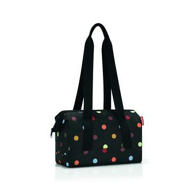 reisenthel Allrounder S, Travelling Bag, Womens Purse, Black with Dots, MR7009
