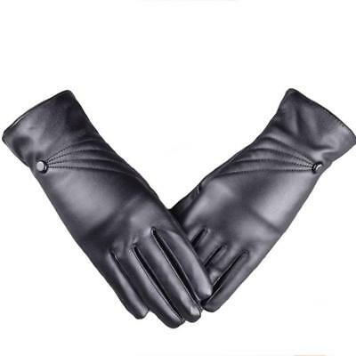 Ladies Women Winter Warm Gloves Cashmere Leather Screen Touch Mittens Gloves Hot