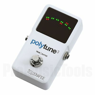 TC Electronic PolyTune 3 *NEW* t.c. polyphonic guitar tuner & buffer - poly tune